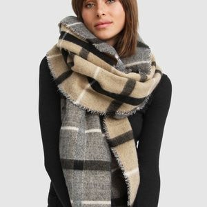 NEW belle and bloom double sided check sided scarf